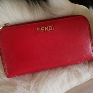 Authentic Fendi zippy wallet